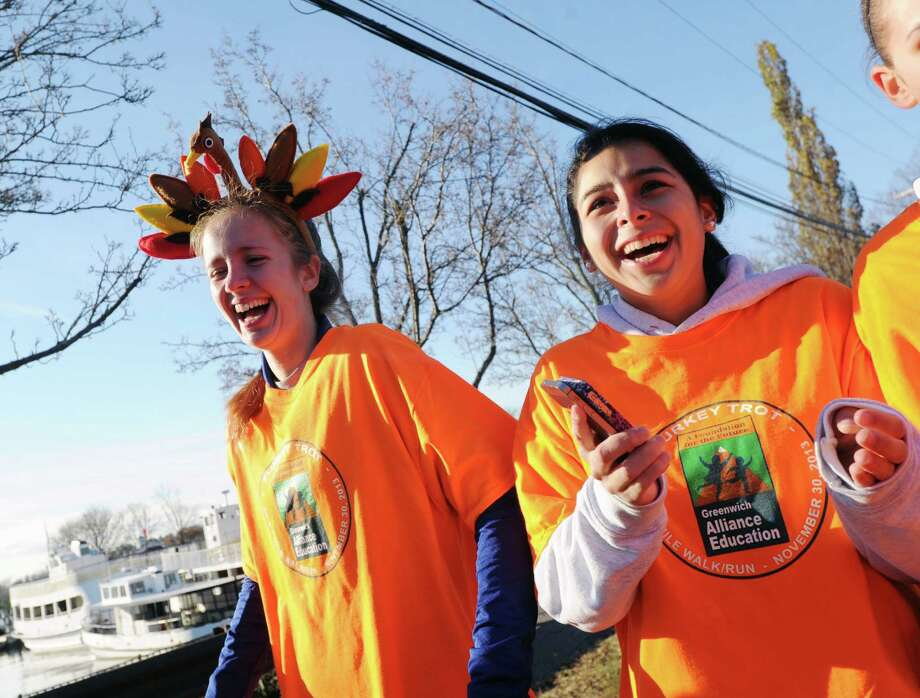 The Greenwich Alliance for Education's 3rd annual Turkey Trot at Roger Sherman Baldwin Park in Greenwich, Saturday morning, Nov. 30, 2013. Photo: Bob Luckey / Greenwich Time