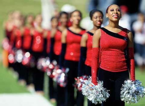 Manvel drill team during pre-game ceremonies during a high school playoff football game Saturday, Nov. 30, 2013 at Mercer Stadium in Sugar Land, Texas. (Bob Levey/Special To Chronicle) Photo: Bob Levey, Special To The Chronicle / ©2013 Bob Levey