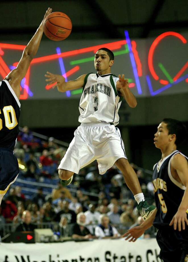 Peyton Siva is another famous Franklin grad. Currently playing for the Detroit Pistons, Siva showed off his hoops skills back in his days at Franklin. He's pictured in 2007 during a state playoff game in the Tacoma Dome. Photo: Scott Eklund, - / Seattle Post-Intelligencer
