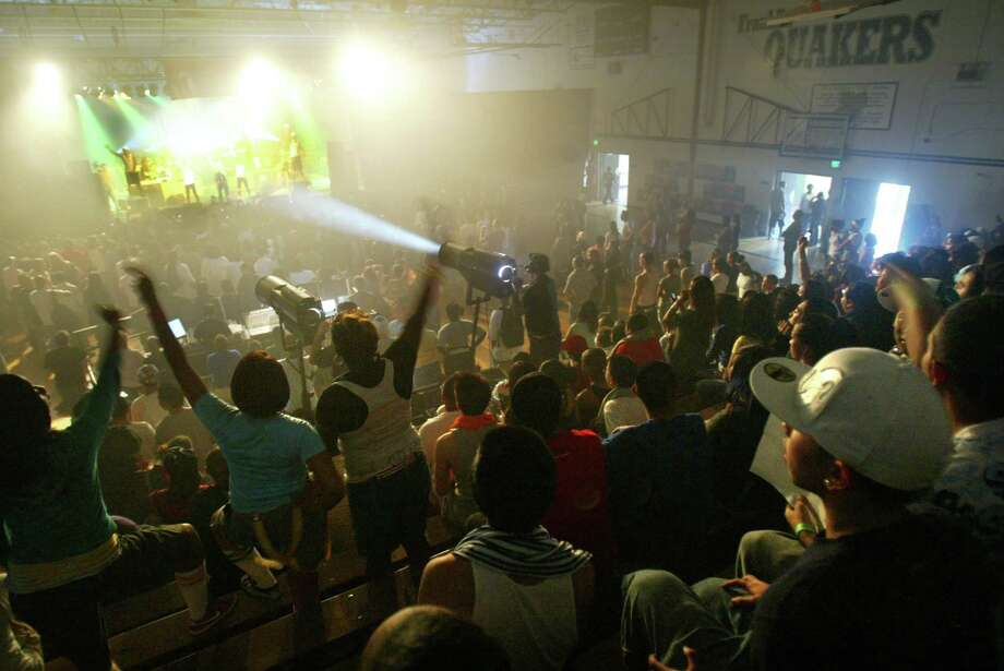 Normally the home of basketball games and school assemblies, Franklin High School's gym hosted a performance by Fergie in 2007.  Photo: Karen Ducey, - / Karen Ducey