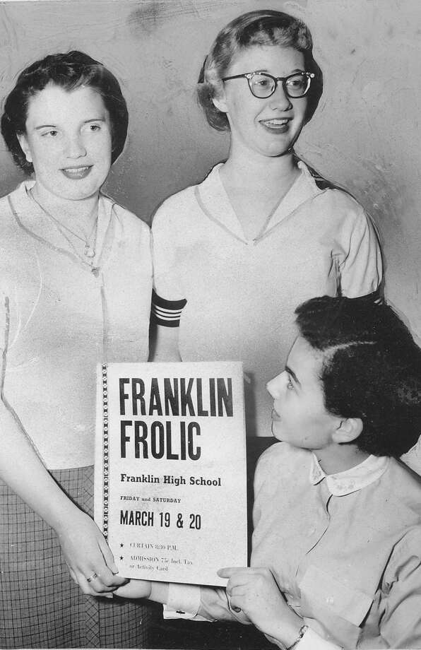 "The ""Franklin Frolic"" was apparently something related to entertainment at the school. The poster and Franklin students are pictured in 1954.  Photo: -"