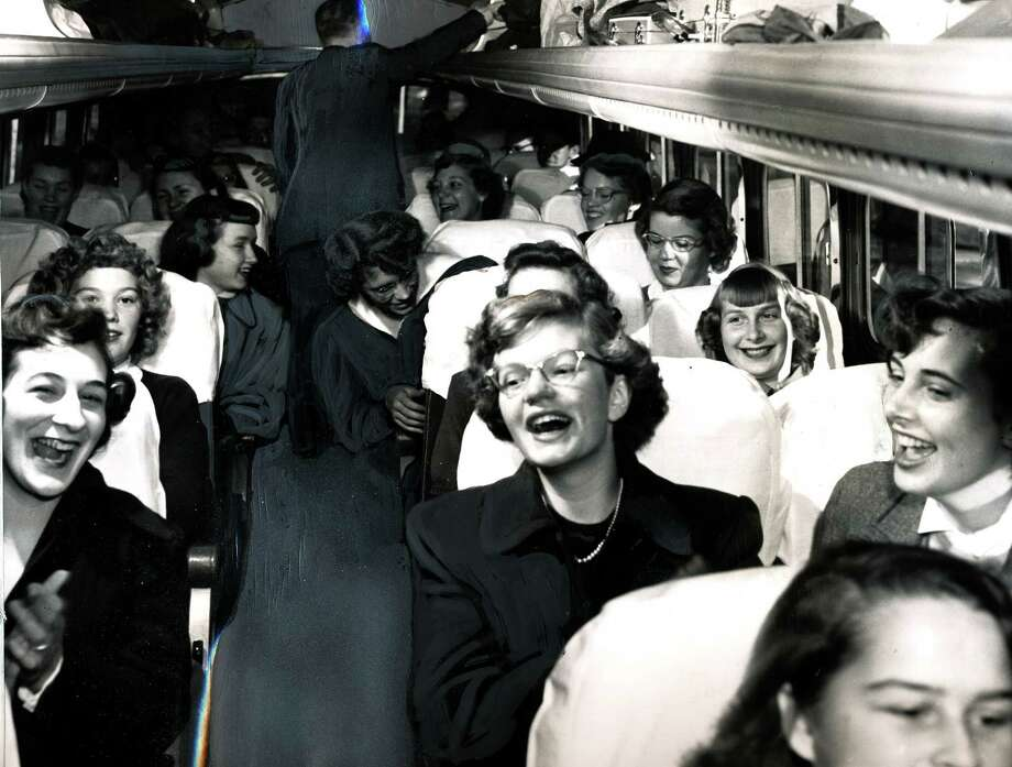 What Franklin juniors looked like in 1949. This group was going to the Grand Coulee Dam for a field trip.  Photo: -