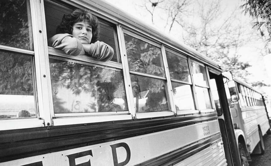 Franklin High School student Tracy Congdon is pictured on a school bus on Nov. 11, 1981, before heading home to Queen Anne.  Photo: -