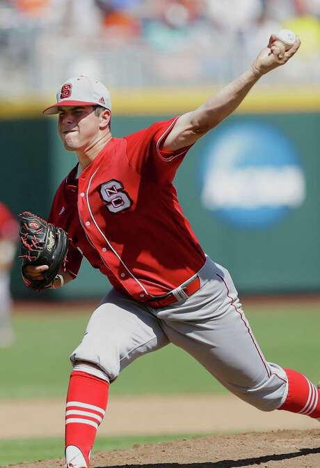 Hard-throwing North Carolina State lefthander Carlos Rodon is considered the top candidate to be selected with the No. 1 overall pick in next year's MLB draft by the Astros, although a few high schoolers and even a teammate of his could bump him from the top spot by the time June rolls around. Photo: Nati Harnik, STF / AP