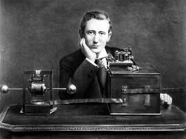 Italian inventor Guglielmo Marconi is pictured shortly after his arrival in England in this 1896 photo. On Dec. 12, 1901, Marconi made history when he sent a radio signal across the Atlantic Ocean.