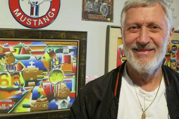 """Painter and gallery owner Bob """"Crocodile"""" Lile works to keep the Route 66 mystique alive in Amarillo. America's fabled """"Mother Road"""" was decommissioned in 1985 after nearly six decades."""