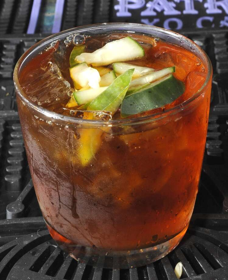 Tibideaux's is August 8, 2013 bar of the week.     This is a Pimm's Cup drink. Dave Ryan/The Enterprise Photo: Dave Ryan/The Enterprise