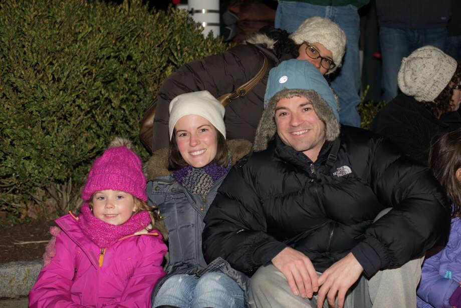 Were you SEEN at the Ridgefield main street tree lighting? Photo: Andrew Merrill