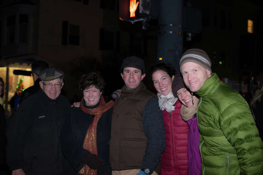 Were you SEEN at the Ridgefield main street tree lighting? Photo: Andrew Merrill