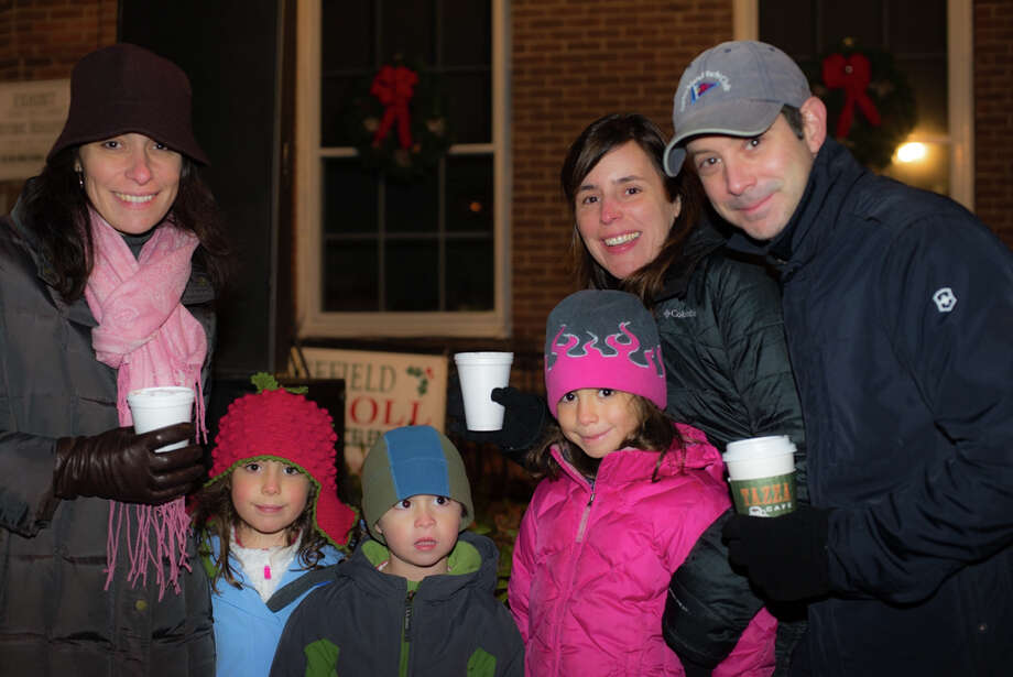 On Friday, December 29th, Ridgefield CT held their annual main street tree lighting ceremony: People sang christmas carols, main street was lit bright with christmas lights and even Santa made a guest appearance.Were you SEEN at the Ridgefield main street tree lighting? Photo: Andrew Merrill