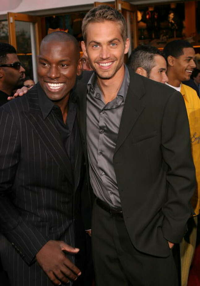 "Tyrese and Paul Walker during The World Premiere of ""2 Fast 2 Furious"" at Universal Amphitheatre in Universal City, California, United States. (Photo by Chris Polk/FilmMagic) Photo: Chris Polk, FilmMagic / FilmMagic"