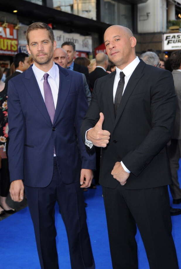 "LONDON, ENGLAND - MAY 07:  Actors Paul Walker and Vin Diesel attends the ""Fast & Furious 6"" World Premiere at The Empire, Leicester Square on May 7, 2013 in London, England.  (Photo by Stuart C. Wilson/Getty Images for Universal Pictures) Photo: Stuart C. Wilson, Getty Images For Universal Pictu / 2013 Getty Images"