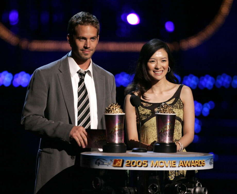 Paul Walker and Ziyi Zhang during 2005 MTV Movie Awards - Show at Shrine Auditorium in Los Angeles, California, United States. (Photo by J. Merritt/FilmMagic) Photo: J. Merritt, FilmMagic / FilmMagic