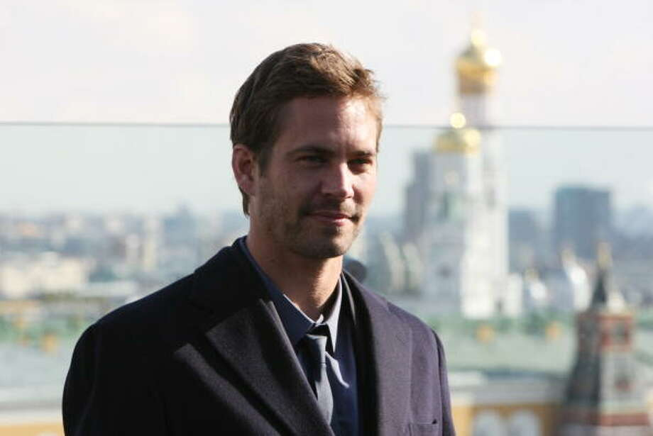 "MOSCOW - MARCH 23:  (RUSSIA OUT) Actor Paul Walker attends a photocall for the film ""Fast & Furious"" on March 23, 2009 in Moscow, Russia.  (Photo by Alexander Aleshkin/Epsilon/Getty Images) Photo: Epsilon, Getty Images / 2009 Epsilon"