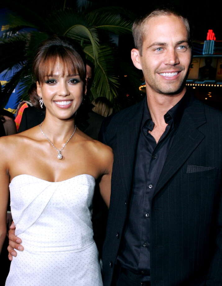 "Jessica Alba and Paul Walker during MGM Pictures and Columbia Pictures ""Into the Blue"" Premiere - Red Carpet at Mann Village in Westwood, California, United States. (Photo by E. Charbonneau/WireImage for Sony Pictures-Los Angeles) Photo: E. Charbonneau, WireImage For Sony Pictures-Los / WireImage"