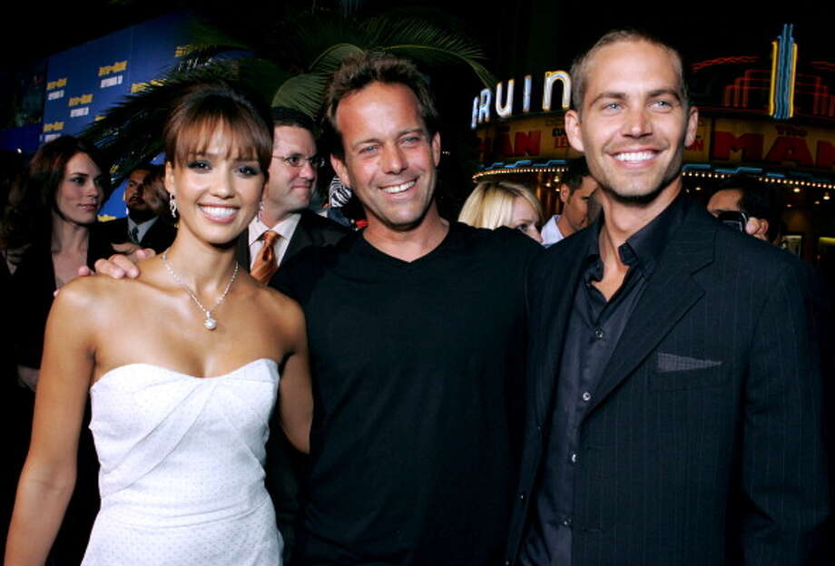 "Jessica Alba, John Stockwell, director of ""Into the Blue"" and Paul Walker (Photo by E. Charbonneau/WireImage for Sony Pictures-Los Angeles) Photo: E. Charbonneau, WireImage For Sony Pictures-Los / WireImage"