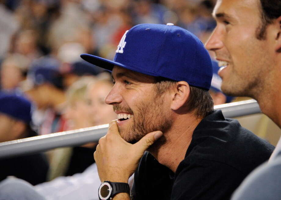 LOS ANGELES, CA - SEPTEMBER 14:  Actor Paul Walker attends the basbeall game between the Arizona Diamondbacks and the Los Angeles Dodgers at Dodger Stadium on September 14, 2011 in Los Angeles, California.  (Photo by Kevork Djansezian/Getty Images) Photo: Kevork Djansezian, Getty Images / 2011 Getty Images