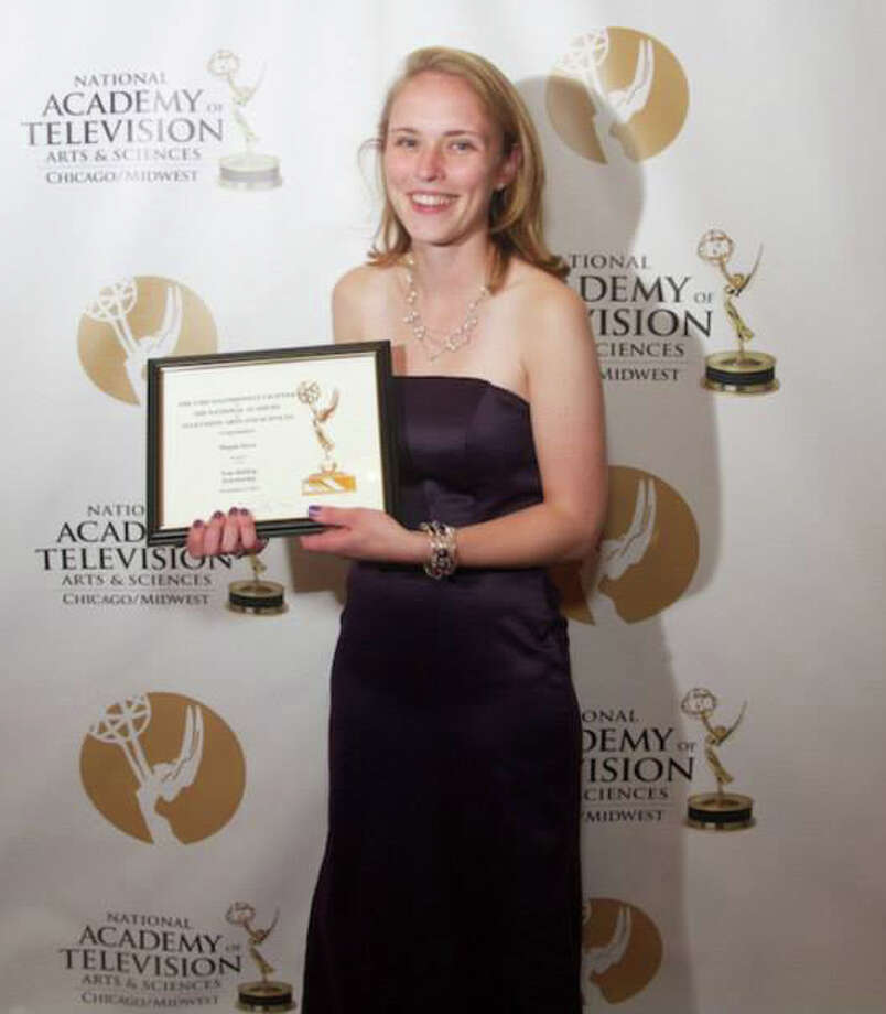 New Canaan resident Megan Joyce was honored Nov. 3 by the Chicago-Midwest Chapter of the National Academy of Television Arts and Science during its annual Emmy Award celebration. Photo: Contributed Photo, Contributed / New Canaan News Contributed