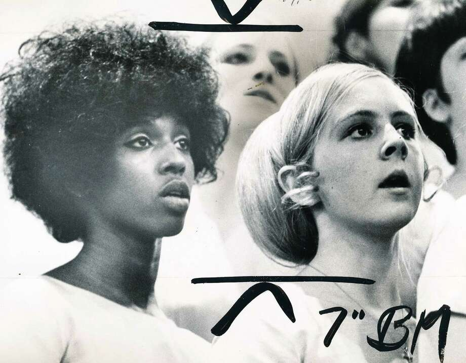 Franklin has a rich history of sports, activities and music. Pictured are Betty Poindexter and Bonnie Erikson, members of the the school's Bel Canto Choir, performing at St. Mark's Cathedral in 1969.  Photo: -