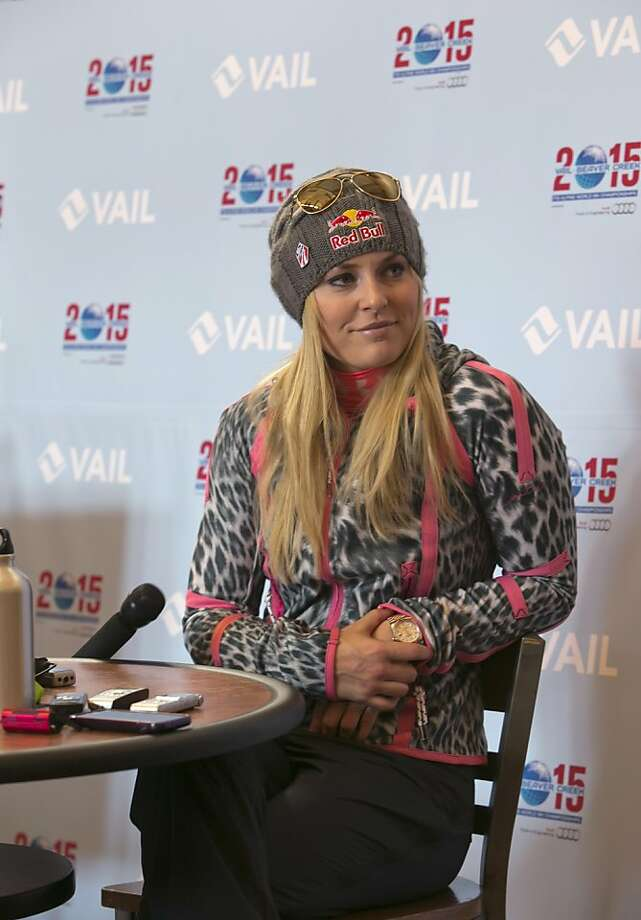 Lindsay Vonn is trying to go for more Olympic medals in Sochi even with torn knee ligaments. Photo: Nathan Bilow, Associated Press