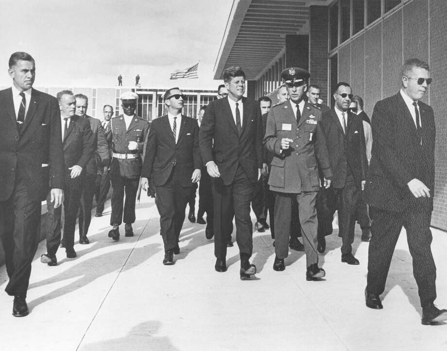 President John F. Kennedy tours the Aerospace Medical Center at Brooks Air Force Base during a visit on San Antonio on Nov. 21, 1963. Photo: San Antonio Express-News File Photo