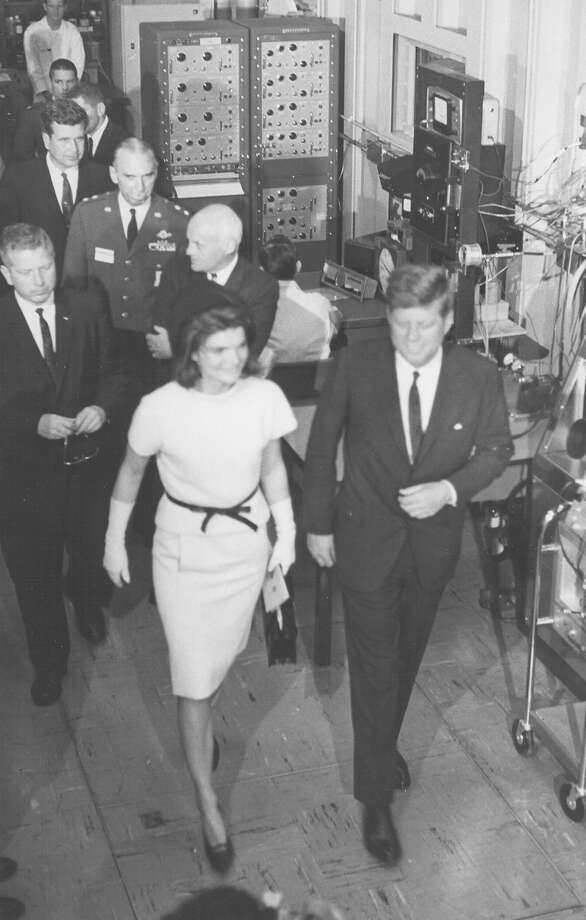 President John F. Kennedy and First Lady Jacqueline Kennedy tour the Aerospace Medical Center at Brooks Air Force Base during a visit on San Antonio on Nov. 21, 1963. Photo: San Antonio Express-News File Photo