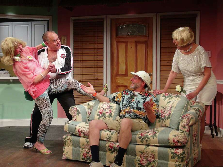 "Pat Hoffman, Jack Fallon, Howie Schaffer, Judi Clements in ""Bermuda Avenue Triangle"" from Nov. 29 through Dec. 29, 2013, at Curtain Call Theatre. (Kevin Gardner)"