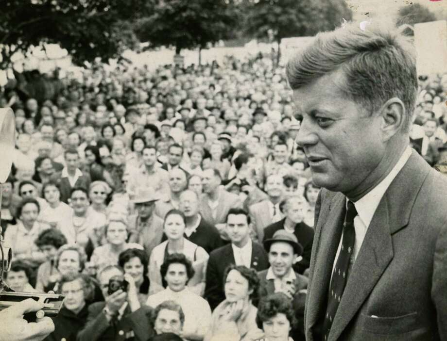 John F. Kennedy campaign visit to Albany, N.Y. Sept. 30, 1960. (Bernard Kolenberg/Times Union archive)