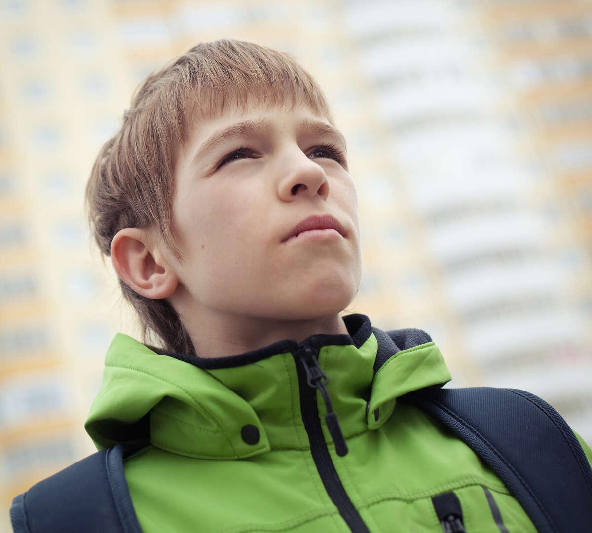 Portrait of teenager, outdoor