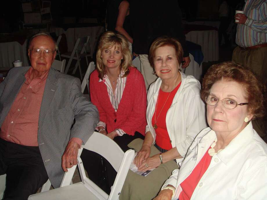 Caption: Ted Fehrenbach joins Debbie Martinez, center, and Connie Dyer at Fourth of July festivities in Santa Fe, New Mexico Photo: VIDAL MARTINEZ / handout email