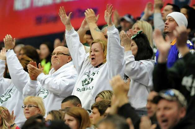 Schalmont fans cheer on their team during the Class B state football final against Maine-Endwell on Sunday, Dec. 1, 2013, at the Carrier Dome in Syracuse, N.Y. (Cindy Schultz / Times Union) Photo: Cindy Schultz / 00024837A