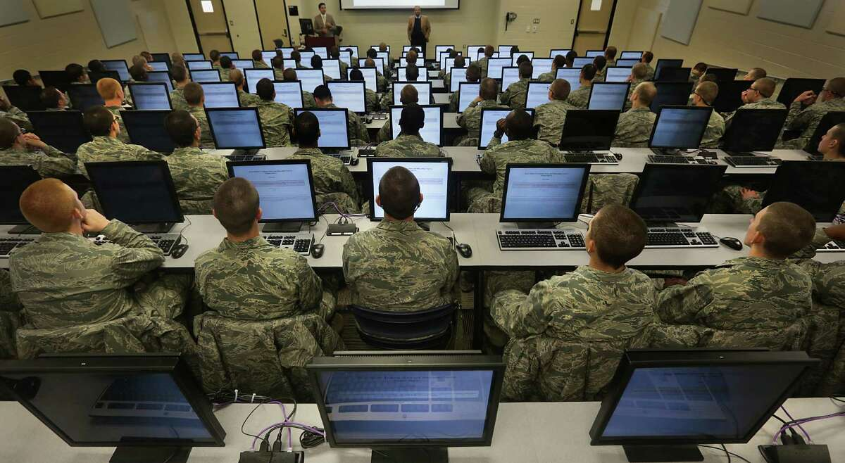 San Antonio has been named the second most patriotic city in the United States by a social media website measuring cities' patriotism.Browse through the slideshow to see the more red-white-and-blue cities. In this file photo, Air Force trainees at Joint Base San Antonio-Lackland take a survey.