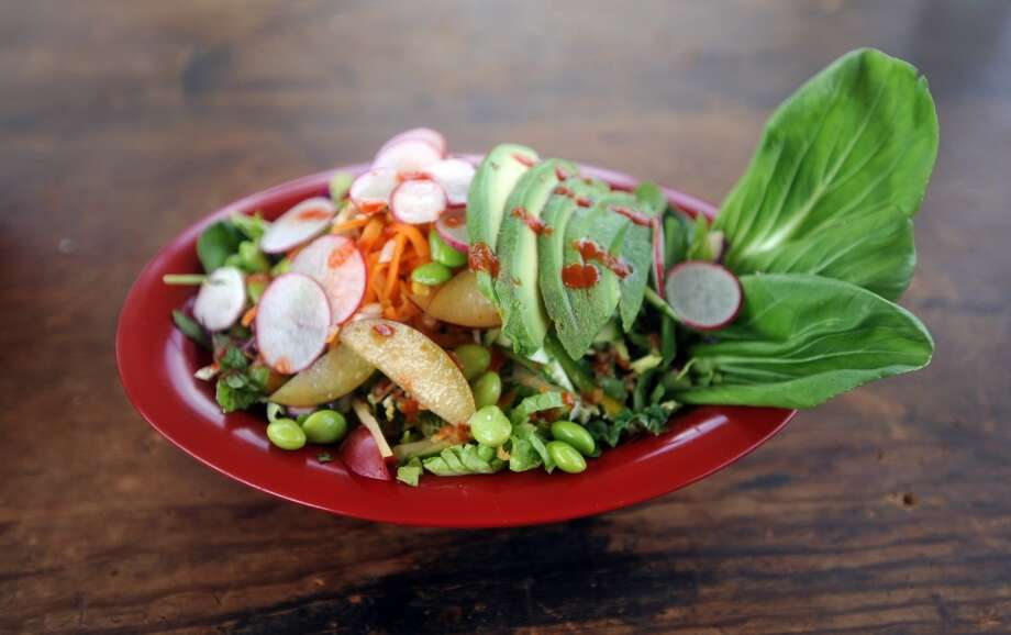 The Gandhi Banh Mon, a vegetarian option at the Banh Mon Renegade Street Food truck. Photo: Cat5