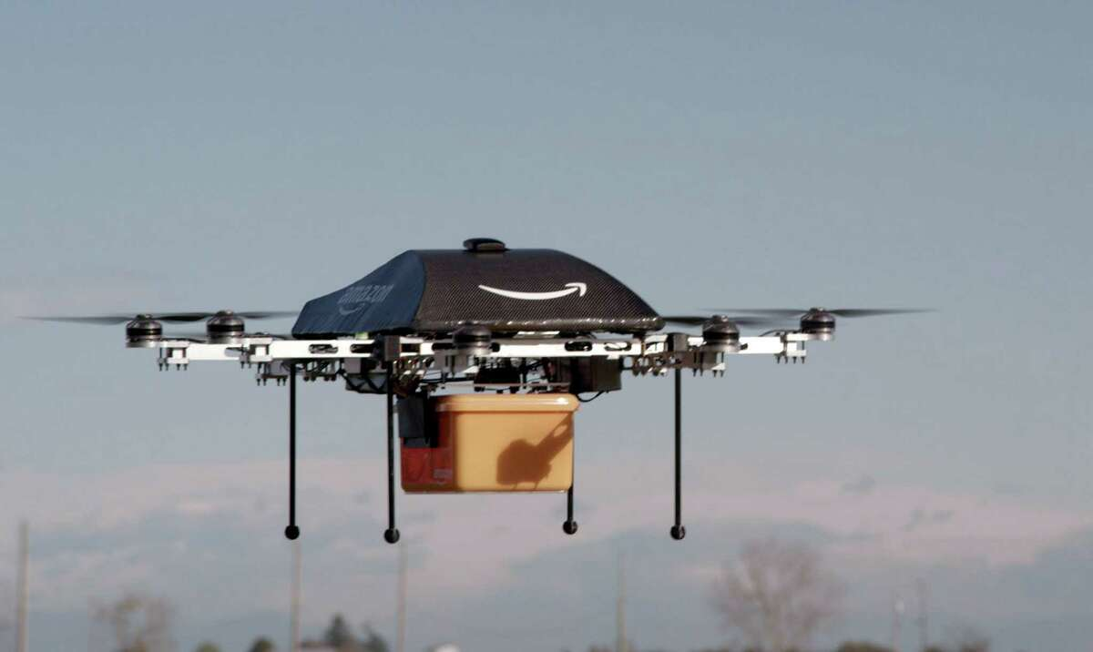 This undated handout photo released by Amazon on December 1, 2013 shows a flying