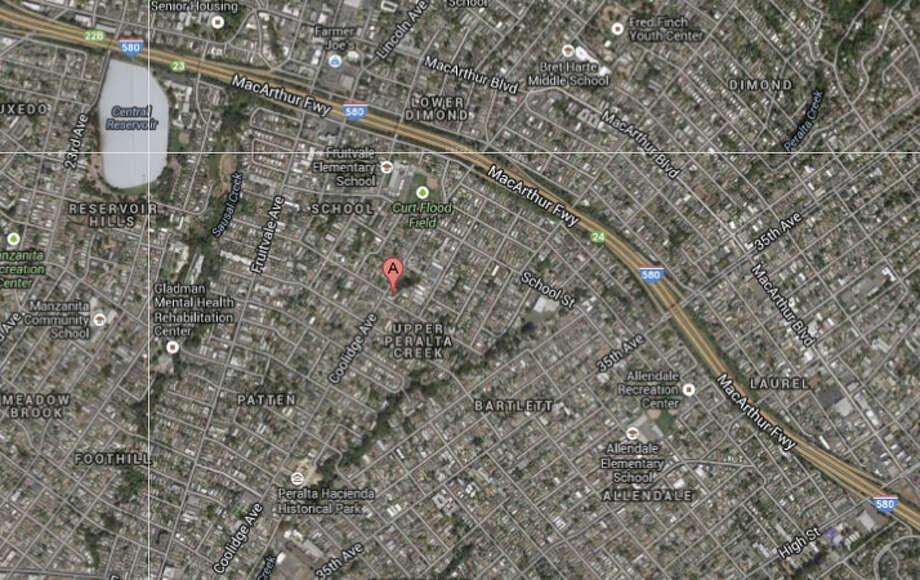 3100 block of Coolidge Avenue, Oakland, CA Photo: Google Maps