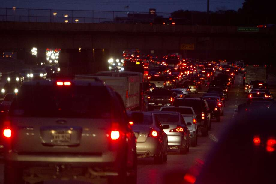 A study of traffic congestion found that Houston's average of 25.6 hours wasted  due to traffic congestion puts us in at No. 19 among the 50 cities studied. Photo: Johnny Hanson, Houston Chronicle