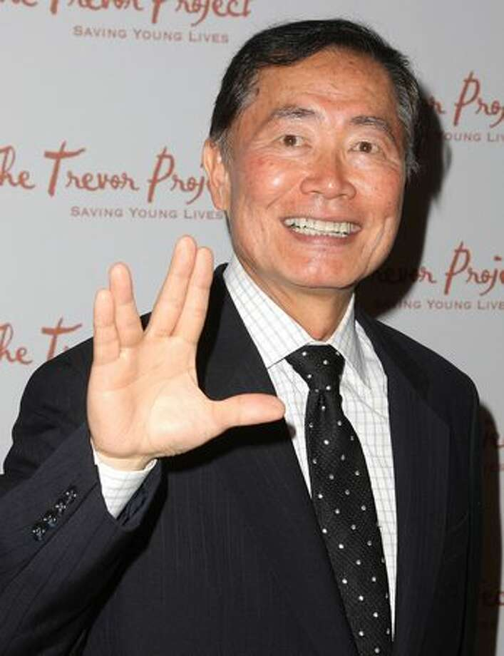 George Takei, actor, Hikaru Sulu on Star Trek Though it was an open secret for many Star Trek fans, Takei admitted to his 18 year realtionship with Brad Altman in 2001. The couple married in 2008. (Photo by Andrew H. Walker/Getty Images)