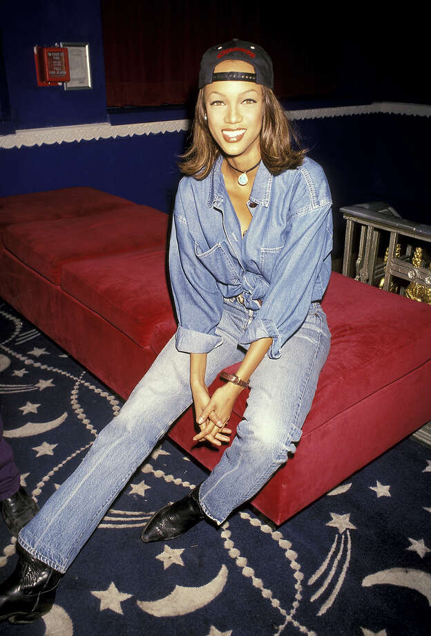 "Tyra Banks at ""A Night of Fun & Sun"" Hosted by Ocean Drive & Absolut Vodka in 1993. Photo: Ron Galella, WireImage / Ron Galella Collection"
