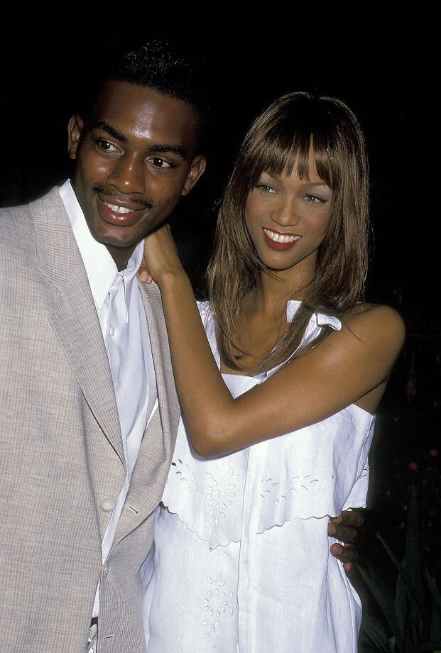"Bill Bellamy And Tyra Banks during ""Boathouse Rocks 2"" AMFAR Benefit at The Boathouse in New York City in 1993. Photo: Ron Galella, WireImage / Ron Galella Collection"