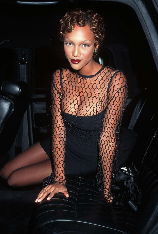 "Tyra Banks during ""Ready to Wear"" New York Premiere at Ziegfeld Theater in New York City in 1994. Photo: Ron Galella, WireImage / Ron Galella Collection"