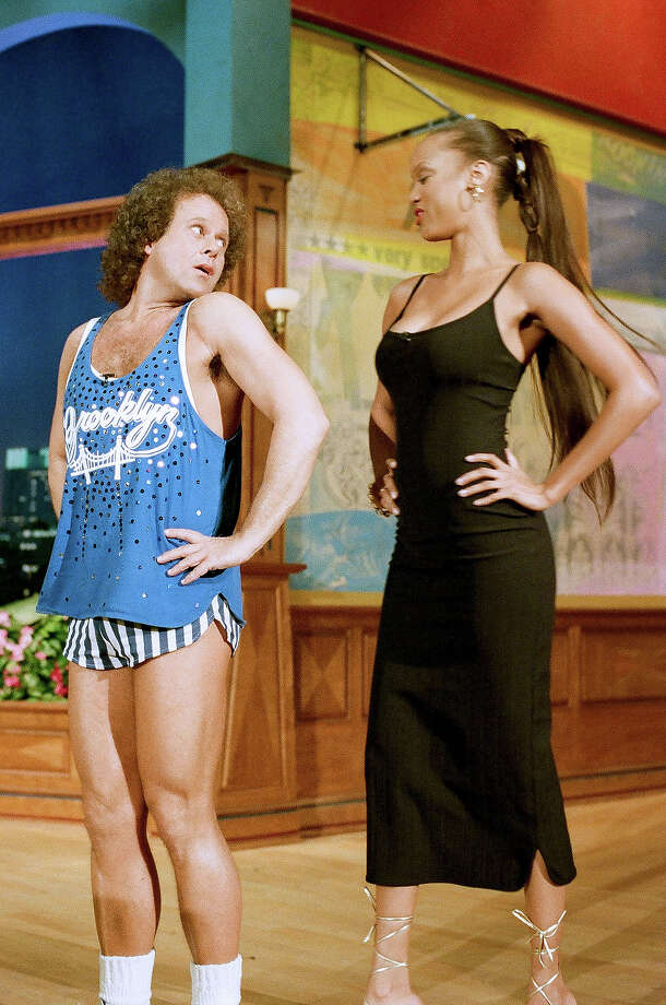 "ichard Simmons and Tyra Banks on ""The Tonight Show With Jay Leno"" in 1995. Photo: NBC, NBCU Photo Bank Via Getty Images / 2013 NBCUniversal Media, LLC"