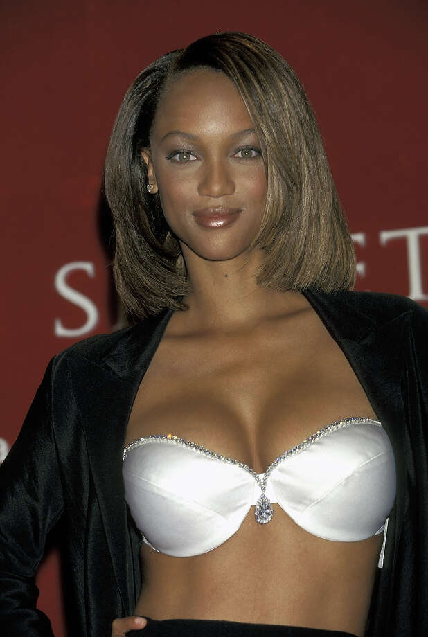 Tyra Banks unveiling the $3 million Victoria's Secret Dream Bra  in 1997. Photo: Ron Galella, WireImage / Ron Galella Collection