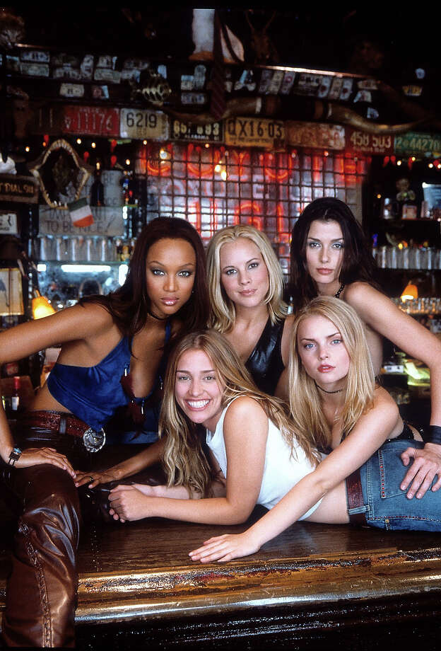 "In 2000, Tyra Banks (left, upper row) starred in ""Coyote Ugly"" with Maria Bello, Izabella Miko, Bridget Moynahan and Piper Perabo.  Photo: Archive Photos, Getty Images / 2012 Getty Images"