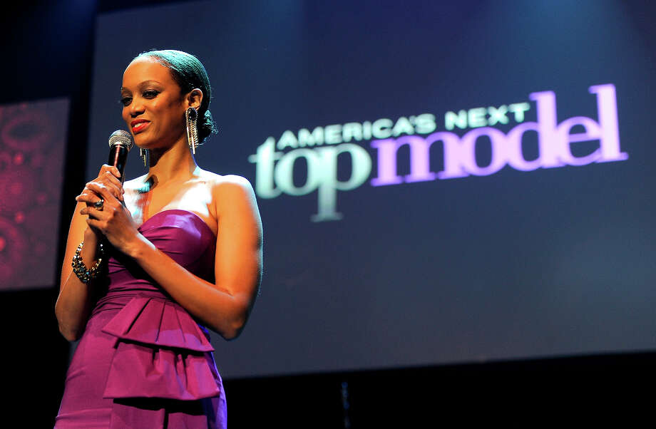Tyra Banks introduces auction item on stage at Keep A Child Alive's 8th annual Black Ball at Hammerstein Ballroom on November 3, 2011 in New York City. Photo: Kevin Mazur/Child11, WireImage / 2011 Kevin Mazur/Child11