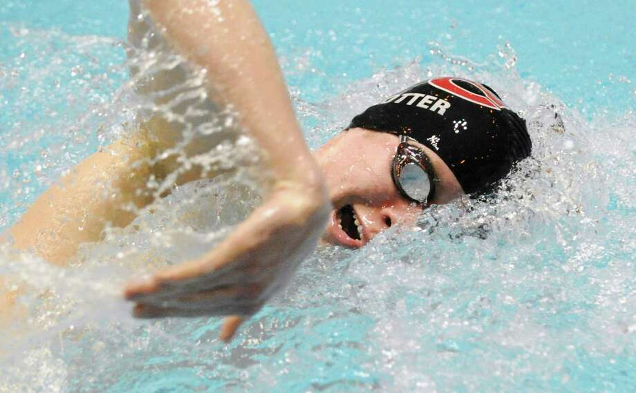 Jason Potter of New Canaan swims the 200 yard freestle during the State Open Swimming Championships at Yale University, New Haven, Conn., Saturday afternoon, March 19, 2011. Photo: Bob Luckey, ST / Greenwich Time