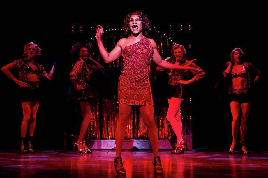 "FILE - This file publicity image released by The O+M Company shows Billy Porter during a performance of ""Kinky Boots."" The current Tony Award winning musical grossed $1,912,568 over eight performances during the week ending Sunday, Dec. 1, 2013, smashing the all-time house record at the Al Hirschfeld Theatre. It beat out the crown there held by the recent revival of ""How To Succeed in Business Without Really Trying,"" which had one more performance. (AP Photo/The O+M Company, Matthew Murphy, File) ORG XMIT: NY118 Photo: Matthew Murphy / The O+M Company"