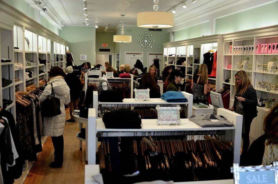 Togs, a women's clothing store at 66 Elm St., was one of the most crowded  shops in downtown New Canaan on Black Friday. Photo: Nelson Oliveira / New Canaan News Contributed