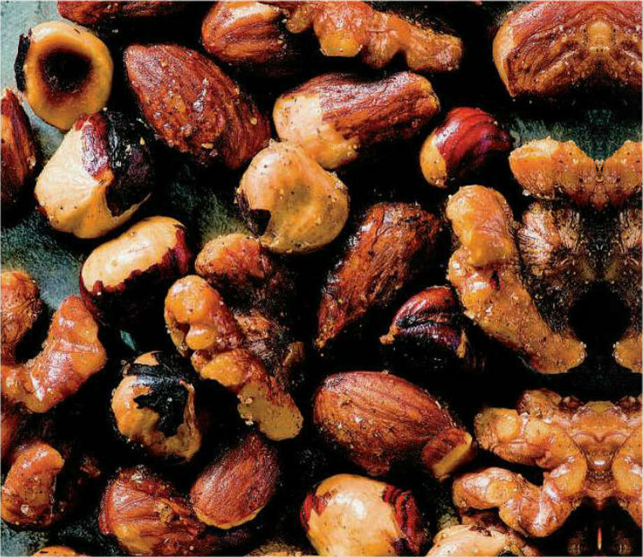 The recipe for Spiced Cocktail Nuts is from 'Giada's Feel Good Food: My Healthy Recipes and Secrets' by Giada De Laurentiis. Photo: Amy Neunsinger, USA Weekend