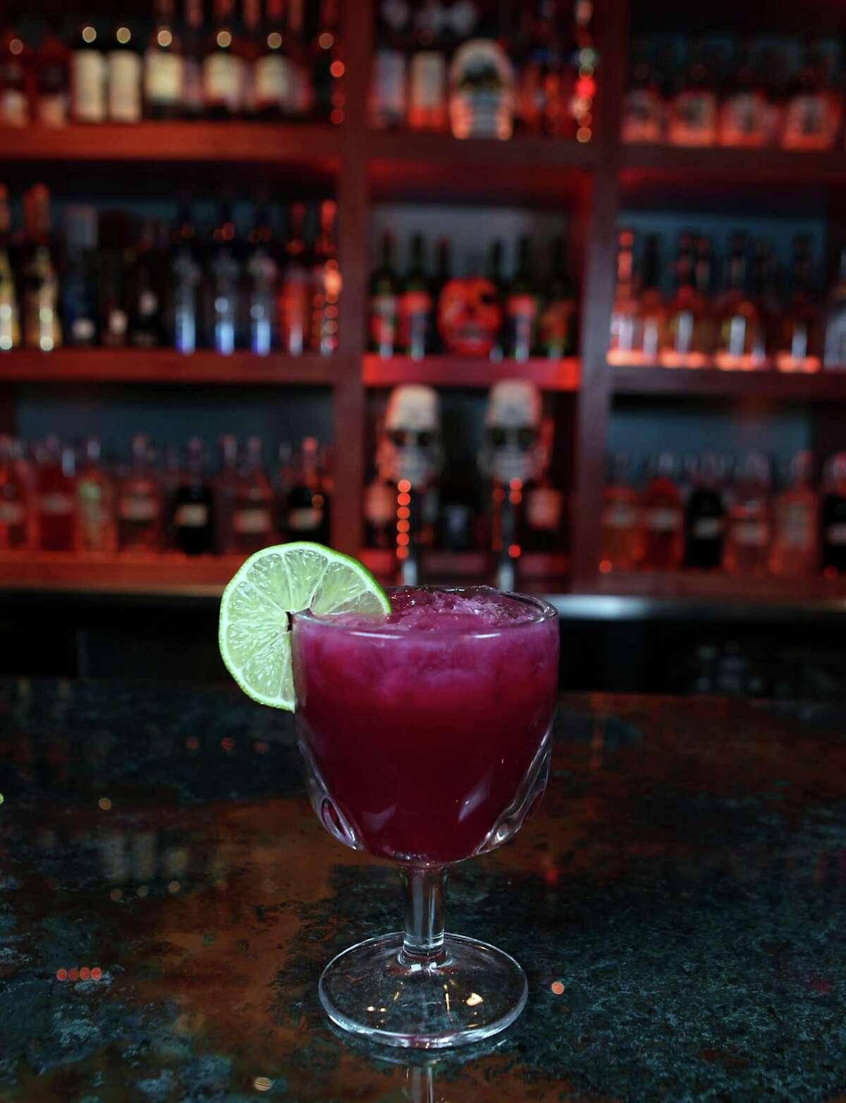 The Beet margarita at El Big Bad Mexican restaurant Tuesday, Nov. 26, 2013, in Houston. ( James Nielsen / Houston Chronicle )