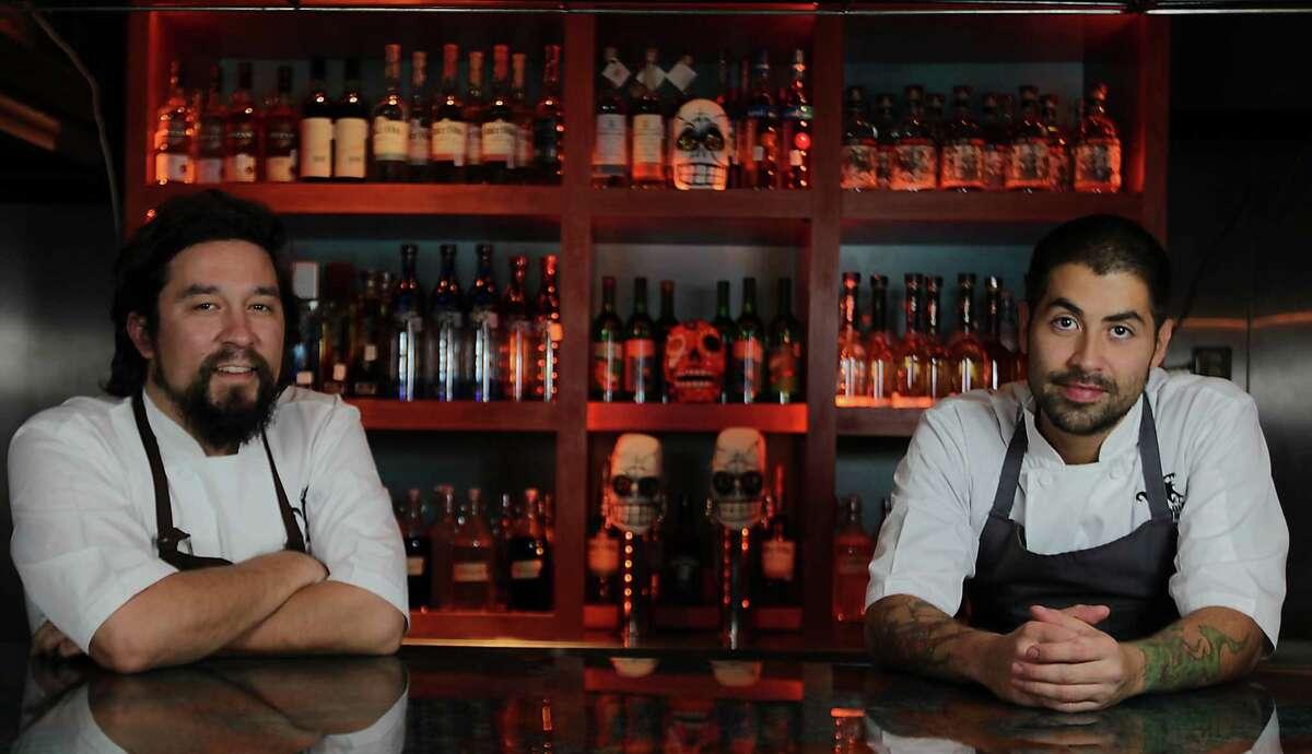 Chefs Randy Rucker left, and Ben Rabbani at El Big Bad Mexican restaurant Tuesday, Nov. 26, 2013, in Houston. ( James Nielsen / Houston Chronicle )